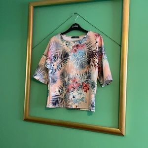 Atmosphere top - pastel flora print